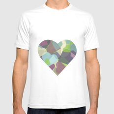 HEARTFUL White MEDIUM Mens Fitted Tee