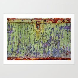 Cracked Vintage Paint Abstract Art Print