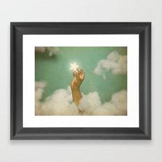Stealing A Little Luck. Framed Art Print