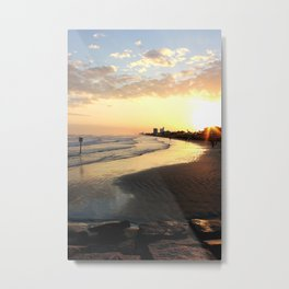 Sunset in Galveston Metal Print