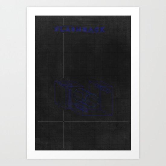 FlashBack  - MINIMALIST POSTER Art Print