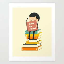 HOW TO READ Art Print