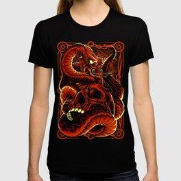 Skull with Snake T-shirt