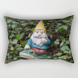 Adventure gnome Rectangular Pillow