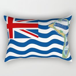 Diego Garcia Flag with Map of Diego Garcia Islands Rectangular Pillow