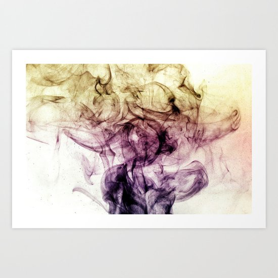 Beautiful Purple Brown Smoky Dust Art Print