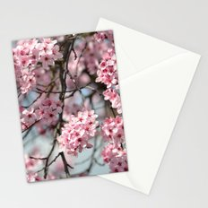Pink Cherry Blossom Flowers Tree Stationery Cards