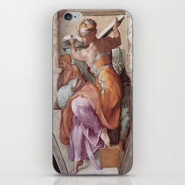 The Libyan Sybil Sistine Chapel Ceiling by Michelangelo iPhone Skin