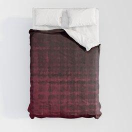 Black maroon mosaic Comforters