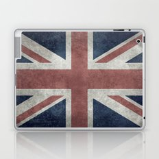 UK Flag, Grungy Desaturated 3:5 scale Laptop & iPad Skin