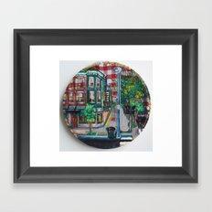 The Corner Of Market And Main  Framed Art Print