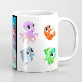 Funny marine animals in the sea Coffee Mug
