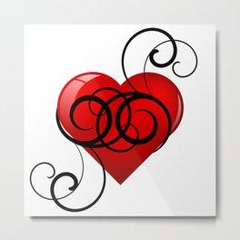Flourished Heart Metal Print