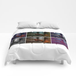 Colorful violins Comforters