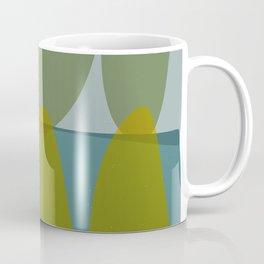 Green and Blue Eliptical Coffee Mug