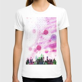 Bright Architecture and Snowflakes #3 T-shirt