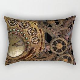 Steampunk gears background Rectangular Pillow