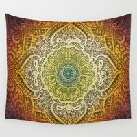 bohemian Wall Tapestries featuring Bohemian Lace by Jenndalyn