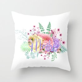Mothers Roses Flowers Throw Pillow