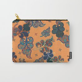seamless  ethnic floral pattern vector Carry-All Pouch