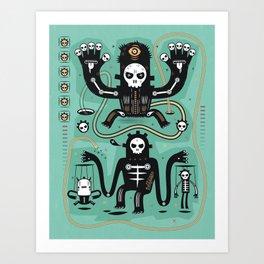 Chamanistik in blue Art Print