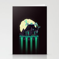 titan Stationery Cards featuring Moonlit Titan by badOdds