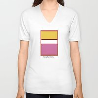 rothko V-neck T-shirts featuring Simplified Rothko by ELCORINTIO