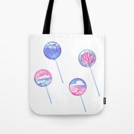 Ocean Blue Lollipop Tote Bag