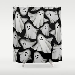 ghost pattern Shower Curtain