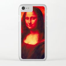 Mona Lisa's Haze (red) Clear iPhone Case