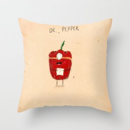 Dr. Pepper Throw Pillow