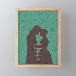 Jane Eyre quote - Love Quotes - Charlotte Bronte - Book lover gift. Framed Mini Art Print