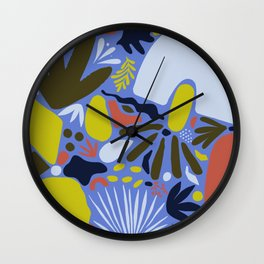 Matisse Inspired Abstract Cut Outs no.02 Wall Clock
