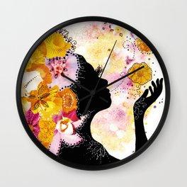 Flower Child Wall Clock