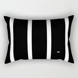 BLACK AND WHITE STRIPES #black #white #stripes #minimal #art #design #kirovair #buyart #decor #home Rectangular Pillow