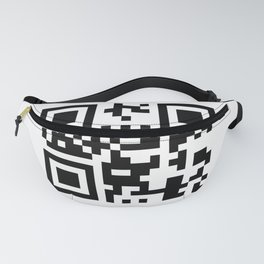 Creative pattern in the style of qr code Fanny Pack
