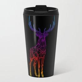 Rainbow Geometric Deer Travel Mug