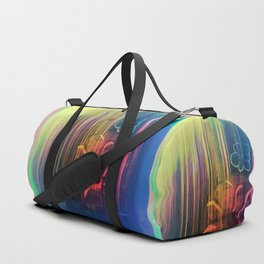 Floral Space Duffle Bag