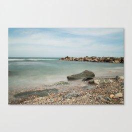 Stones Flow Canvas Print