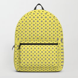 Tiny grey cogs pattern Backpack