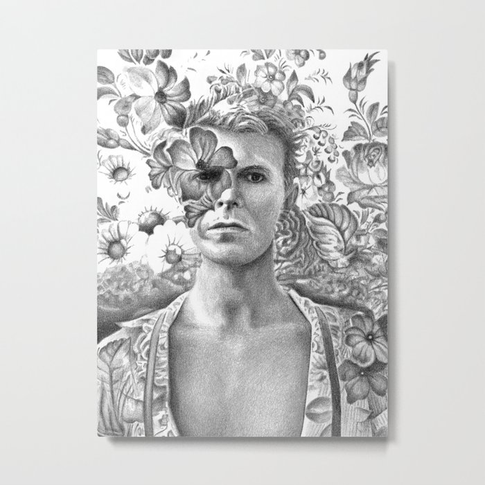 Bowie Goodbye For now Metal Print