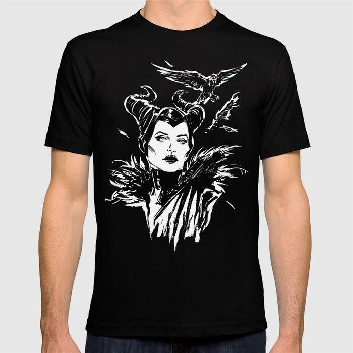 Maleficent Fan Art Angelina Jolie From Sleeping Beauty T Shirt