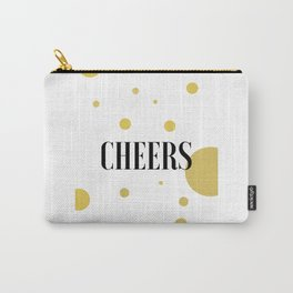 POP FIZZ CLINK Black And Gold Party Decorations Champagne Gift Champagne Quotes Cheers Sign Printabl Carry-All Pouch