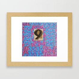 Alpha-Numero: Nine Framed Art Print
