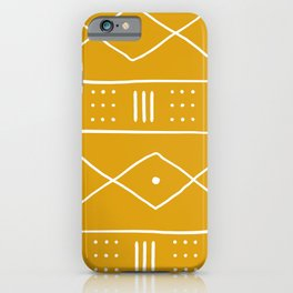 Yellow Ethnic Pattern  iPhone Case