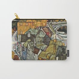 Egon Schiele - Crescent Of Houses .Island Town Carry-All Pouch
