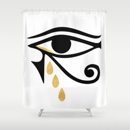 ALL SEEING CRY - Eye of Horus Shower Curtain