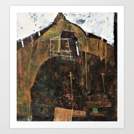 Egon Schiele - Landscape with Ravens - Digital Remastered Edition Art Print