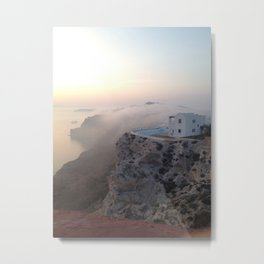 Fira, Santorini, Greece Metal Print