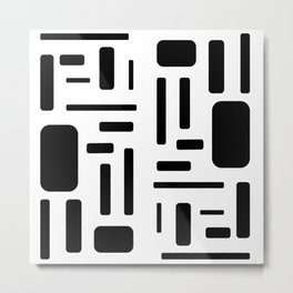 Black and white geometric design Metal Print